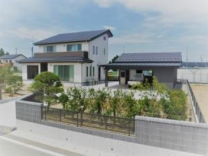 新築住宅09・南相馬市の施工例、白を基調としたシンプルスタイリッシュな家